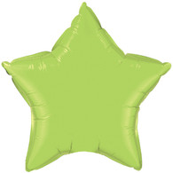 Foil Star Lime Green Balloon | Kalidoscope