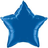 Solid Colour Foil Balloon Dark Blue Star