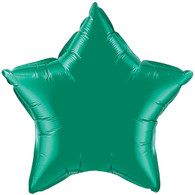 Foil Star Emerald Green Balloon | Kalidoscope