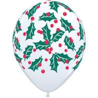 Christmas Holly Themed Latex Balloon