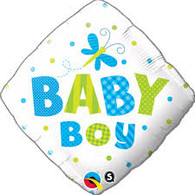 Baby Boy Diamond Foil Balloon