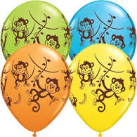 Latex Printed 30cm Cheeky Monkeys Balloons | Qualatex