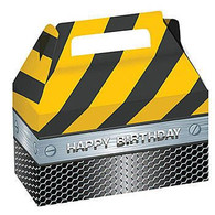 Construction Birthday Zone Foil Treat Boxes