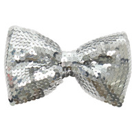 Dr Tom's Silver Sequin Bow Tie