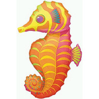 Anagram Tropical Seahorse Supershape Foil Balloon