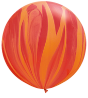 Latex Superagate 75cm Red Orange Balloon | Qualatex