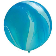 Latex SuperAgate 75cm Blue Balloon | Qualatex