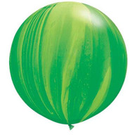 Latex SuperAgate 75cm Green Balloon | Qualatex