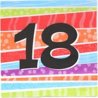 Neon Number 18 Napkin