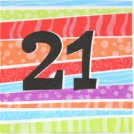 Neon Number 21 Napkins