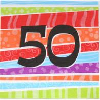 Neon Number 50 Napkins