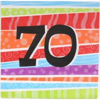 Neon Number 70 Napkin