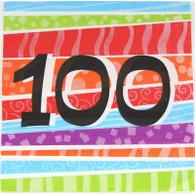 Neon Number 100 Napkins