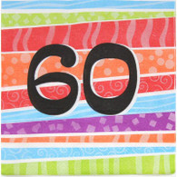 Neon Number 60 Napkins