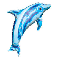 Foil Supershape Dolphin Blue Balloon | Anagram