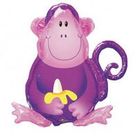 Jungle Party Monkey Super Shape Foil Balloon | Qualatex