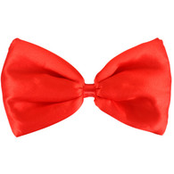 Dr Tom's Red Satin Bow Tie