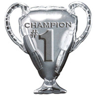Foil Supershape #1 Champion Silver Cup Balloon | Anagram