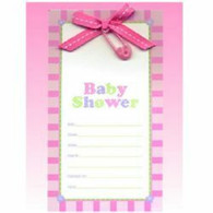 Bow & Pin Baby Shower Invitations