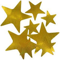 Gold Laser Stars Assorted Sizes