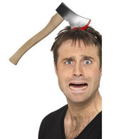 Halloween Hatchet Through Head Headband | Smiffy's