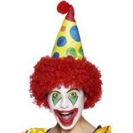 Clown Hat with Red Curly Hair | Smiffy's
