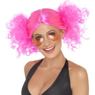 Bunches 80's Neon Pink Wig | Smiffy's
