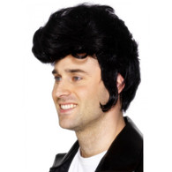 50's Black Rockstar Wig Black | Smiffy's