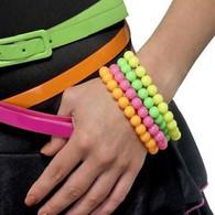 Neon Beaded Bracelets   Smiffy's