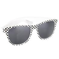 Black & White Checkerboard Wayfarer Sunglasses