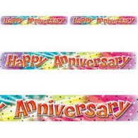 Colourful Happy Anniversary Banner
