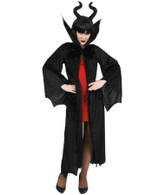 Dr Tom's Dark Queen Malificent Black Cape & Headpiece