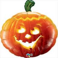 Pumpkin Face Foil Supershape Balloon