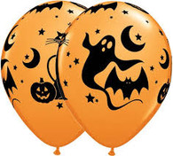 Qualatex Fun & Spooky Latex Balloons Pack of 10