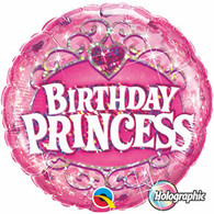 Birthday Princess Holigraphic Foil Balloon