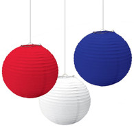 Red, White & Blue Paper Lantern Pack