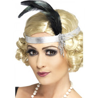 1920's Silver Satin Charleston Headband | Smiffy's