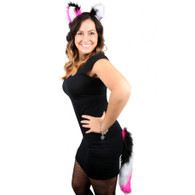 Dr Tom's Wild Cat Set Black Pink & White