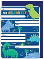 Artwrap Dinosaur Party Invitations