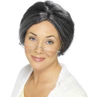 Granny Bun Grey Wig | Smiffy's