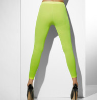 Fever Hoisery Neon Green Opaque Footless Tights