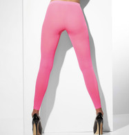 Neon Pink Opaque Footless Tights | Fever Hosiery