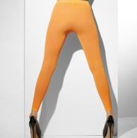 Fever Hosiery Neon Orange Opaque Footless Tights