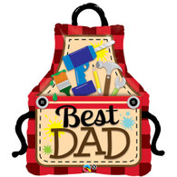 Qualatex Best Dad Tool Apron Foil Balloon