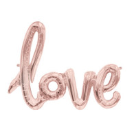 "Rose Gold Air Filled ""LOVE"" Balloon Banner 