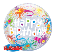 Qualatex Happy Birthday Lit Candles Bubble Balloon
