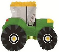 Green Farm Tractor Supershape Foil Balloon