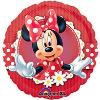Disney Red Minnie Mouse Clubhouse Foil Balloon