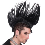 Dr Tom's Punk Rock Black Mohawk Hairpiece