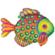 Anagram Rainbow Prismatic Fish Supershape Foil Balloon